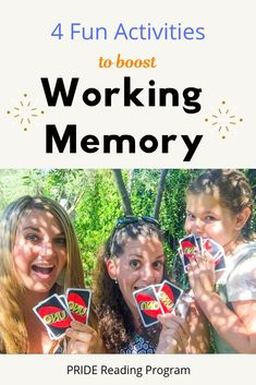You can help develop your child's working memory skills through fun games and practice. Here are some fun and easy activities to boost working memory in your kids. Kids Learning Activities, Therapy Activities, Fun Learning, Cognitive Activities, Family Activities, Teaching Ideas, Planning School, Working Memory, Letters For Kids
