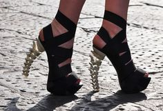 I'd Rock these spine heels, yet my Scoliosis doesn't like heels so much, but beauty is pain :)
