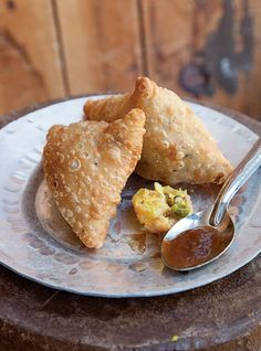 Potato Dumplings with Tamarind Chutney (Samosas) Recipe - Saveur.com Homemade samosas make a terrific snack, especially paired with sweet and tart tamarind chutney and a crisp pale ale.