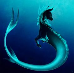 Beings of the Sea Decoration décoration intérieure salon Mythical Sea Creatures, Mystical Animals, Cute Fantasy Creatures, Mythological Creatures, Magical Creatures, Creature Drawings, Horse Drawings, Animal Drawings, Unicorn Art