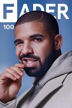 """Get this, 20"""" x 30"""", Drake poster featuring the cover artwork of The FADER Issue…"""