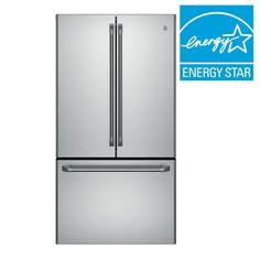 GE Cafe 23.1 cu. ft. French Door Refrigerator in Stainless Steel, Counter Depth-CWE23SSHSS - The Home Depot
