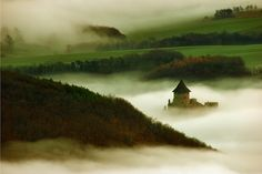 Somoskő Castle -- #Hungary #castle fog landscape #Europe
