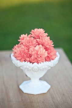 Coral, Grey and Cream Mixed Wooden Flowers, Wedding Decorations, Wedding Flowers, Wedding Table Decor, Wooden Flowers