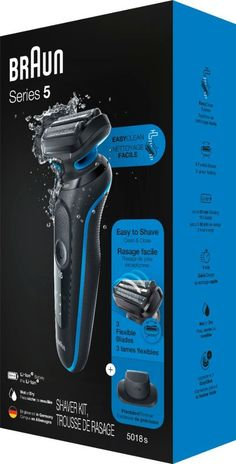 Remove unwanted facial hair with this Braun Series 5 electric shaver for men. The EasyClean system ensures quick and easy maintenance without removing the head, while the lithium-ion battery provides up to three weeks of regular use. This Braun Series 5 electric shaver for men includes a precision trimmer attachment to shape sideburns and mustaches. #ChinHairRemoval Underarm Hair Removal, Hair Removal Cream, Remove Unwanted Facial Hair, Unwanted Hair, Brown Spots On Skin, Sideburns, Hair Health, Natural Hair Styles, Easy