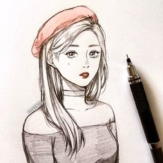 Likes, 78 Comments - ず Anime Drawings Sketches, Girly Drawings, Pencil Art Drawings, Anime Sketch, Desenhos Halloween, Human Sketch, Art Reference Poses, Sketch Painting, Anime Art Girl