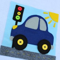 """NEW! Custom Quiet Book Page- """"Car"""" - Single Page to Expand Your Personalized Quiet Book by RoseInBloomCreations on Etsy"""