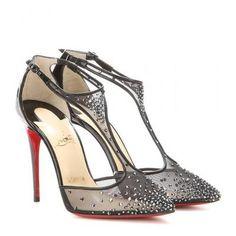 Christian Louboutin - Salopatina 100 embellished pumps #shoes #christianlouboutin #designer #covetme