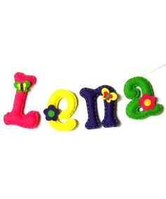 The letters are hand made of wool felt. Can be used as decorations for the room.   You can order any name / letters - please contact me.
