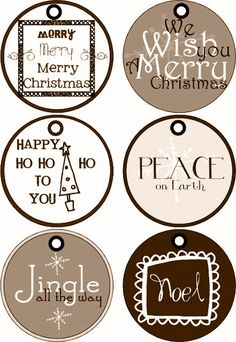 Rustic grift tags. Christmas labels. Free printable labels and tags.