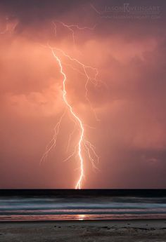 Cloud To Water Lightning At Sunset In New Smyrna Beach Fl May 13