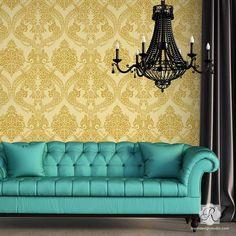Victorian Wall Stencils | Stenciling Pattern for DIY Home Decor | Royal Design Studio