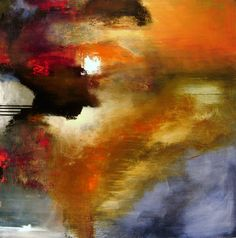 """Abstract Painting """"Premonition"""" by Jeffrey Bisaillon"""