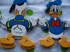 donald duck fold out paper garland by therunawaypancake on Etsy