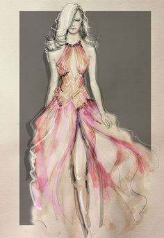 Copying a well known fashion House for Emma sketched by Ali for CORDELIA