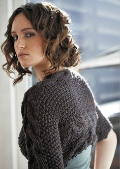 Side to Side Cable Cardi by Jo Sharp