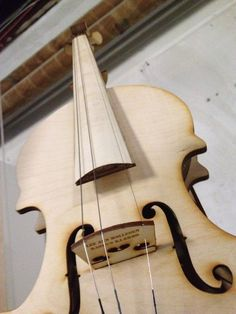 Lasercut plywood violin