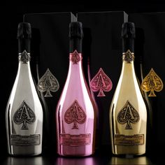 Posh Poker Drinks. Armand de Brignac, colloquially Ace of Spades after the logo, is the name of a Champagne brand produced by Champagne Cattier.