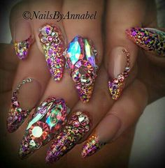 In seek out some nail designs and ideas for the nails? Listed here is our list of 31 must-try coffin acrylic nails for fashionable women. Get Nails, Fancy Nails, Love Nails, Hair And Nails, Ongles Bling Bling, Bling Nails, Stiletto Nails, Fabulous Nails, Gorgeous Nails