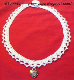 Earning-My-Cape: Small Shells and Picot Necklace (free crochet pattern)