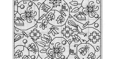 Non-Counted Elizabethan Blackwork Embroidery This article... - <3 ...