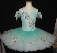"""New Collection 2015! This delightful, mint color stage costume, has been created for the role of the Summer Fairy in the ballet """"Cinderella"""". It can be used for many other roles, like Queen of the Dry"""