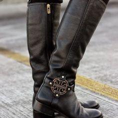 Black Tory Burch Amanda Riding Boots