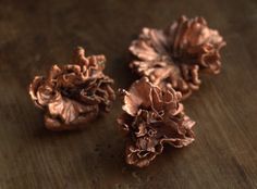 Sakura flowers, copper-plated, natural flowers electroformed with copper,botanical jewelry,flower pendant,silver-plated,copper dipped flower