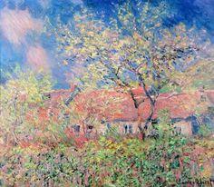 Printemps à Giverny :C Monet - 1886.                                                                                                                                                      Plus                                                                                                                                                      Plus