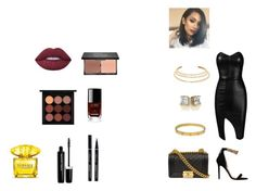 """night out in the town"" by tyrakotze ❤ liked on Polyvore featuring Posh Girl, Versace, Chanel, Kenneth Jay Lane, Cartier, Lime Crime, blacklUp, Marc Jacobs and MAC Cosmetics"