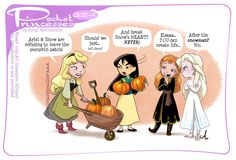 Pocket Princesses, Pocket Princess Comics, Disney Princesses, Disney Frozen Elsa, Disney Magic, Disney Memes, Disney Cartoons, Disney And Dreamworks, Disney Pixar