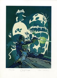 Cam Kennedy & Jeremy Bulloch - Boba Fett Glow In The Dark Print Comic Art