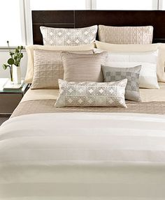 For our new home I want this bedding for our bedroom. Hotel Collection Woven Cord Bedding Collection.