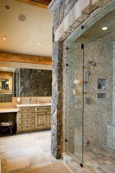 Custom Stone shower  Newcreationshi@hotmail.com