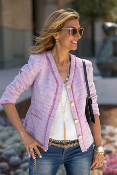 Take a look at our beautiful new Rose Fringe Jacket - Now available online for sale www.jacketsociety.com