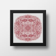 Chinese Traditional Folk Floral Fish & Cats Mandala is a cross stitch pdf pattern recreated from a museum piece which is believed to have been first created between in Western China. Originally embroidered with blue thread on unbleached linen. Embroidery Alphabet, Folk Embroidery, Embroidery Stitches, Cool Patterns, Beautiful Patterns, Stitch Shop, Cat Mandala, Modern Cross Stitch, One Color