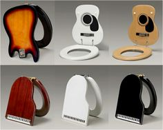 Piano and guitar toilet seats