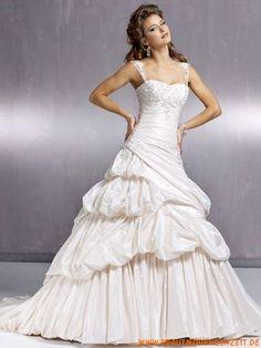 Frankfurt schönes Brautkleid 2013 aus Taft A-Linie online