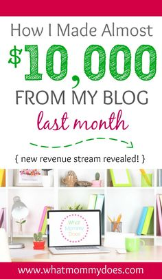 This girl makes $7,500-$10,000 extra a month in her free time by blogging and she explains exactly how she earns money online in this post!!! She literally started blogging to have something to do while she stayed at home with her kids and now it's turned into a full fledged income generating idea! She teaches you how to build a blog with a step-by-step guide on her site. I can't believe I almost missed this one. It's a MUST READ if earning extra cash on the side is something you want to…