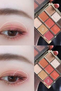 Smokey eyes, bold lipstick, and nail art. Korean Beauty Tips, Korean Makeup Tips, Korean Makeup Tutorials, Eye Makeup Tips, Makeup Trends, Beauty Makeup, Makeup Ideas, Smokey Eyes, Smokey Eye Makeup