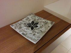 Plat mosaic de vidre