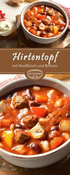 Hirtentopf Shepherd's Pot: A delicious stew with beef and beans saines Healthy Beef Recipes, Healthy Eating Tips, Ground Beef Recipes, Curry Recipes, Vegetarian Recipes, Vegetable Soup Healthy, Vegetable Dishes, Cabbage Soup Sausage, Guisado