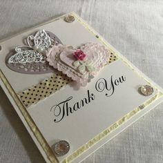 Thank You Card Valentine Card Hearts Card by VintageParisMarket