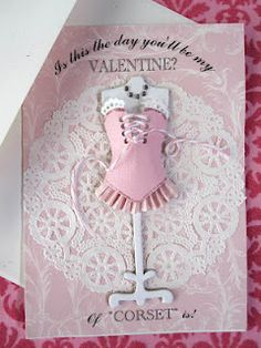 Miniature Corset Card - Created by Jan Ely - Little Pink Houses Blog