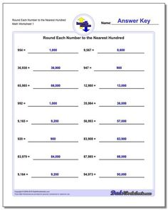 When the place value digit in a rounding numbers problem is a nine and you round up, it requires carrying. These rounding worksheets help practice this sometimes confusing extra step. Many other rounding numbers worksheets on the site... Click through to view and print!