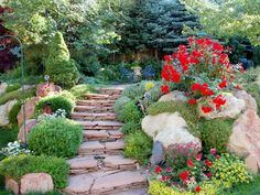 love the steps and the red