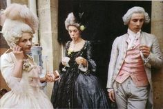 When Marie-Antoinette is going through her shoes while preparing for a big party you see a pair of blue Converse All Star 1923 Chuck Taylor basketball shoes for about one and a half seconds. While these shoes were definitely not in existence at the time of Marie-Antoinette, their inclusion in the film was intentional, to portray Marie-Antoinette as a typical teenage girl despite the time she lived in.  Marie Antoinette (2006)