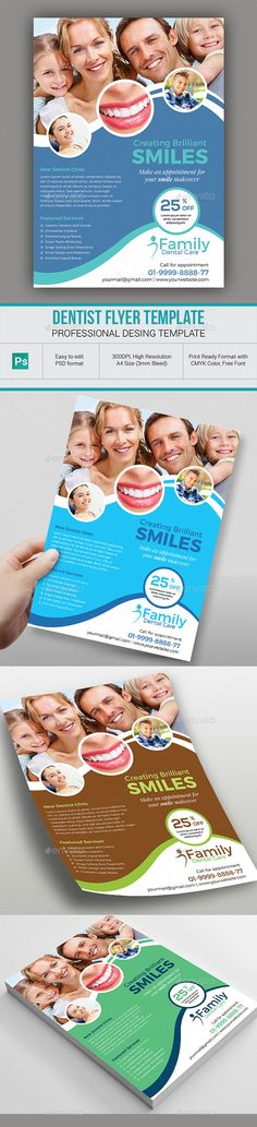 Dentist Flyer by dindiagrafix Dentist Flyer Template This flyer Template is made in Adobe Photoshop format. It is professionally organized and labeled so you c