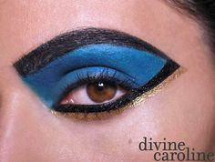 If you're going for a bold pop of color, this chic Cleopatra makeup look is perfect for any Halloween party.