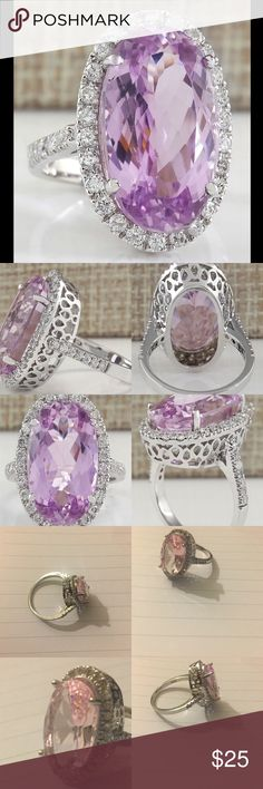 11.74CT Simulated Pink Diamond 925 Silver Ring 11.74ct Simulated Pink diamond surrounding by clear accent stones.  925 stamped Sterling Silver huge chunky ring Size 10 stunning n radiant  Please read the details of the listing ✔Not used or tested✔ 💯Brand new HIGH QUALITY💯 💯What u see is what u get💯 ❌ No trades 🚫 No Offers on items $10 n under  ❤Please Check out my Closet❤ ➕ BUNDLE n Save 10% off 4 or more➕ 💲Save money💲 ➖All prices reduced➖ ⚡Next Day Shipping⚡ All items ship from Ohio…
